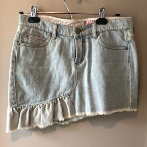 Light wash Jean Skirt
